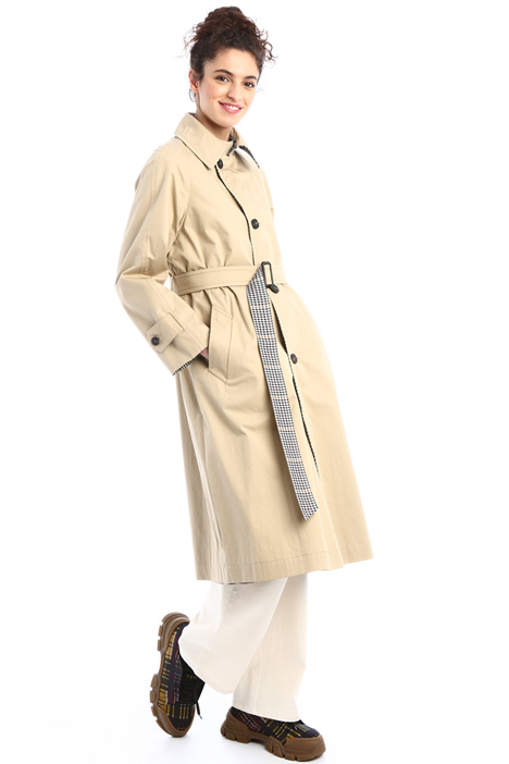 Reversible cotton trench coat Intrend