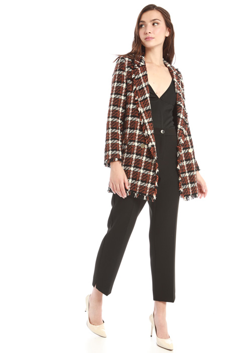 Double-breasted tweed blazer  Intrend