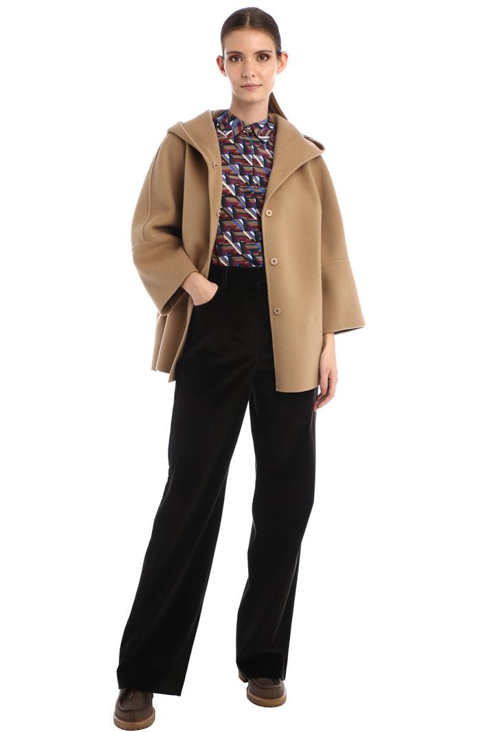 Hooded wool pea coat Intrend
