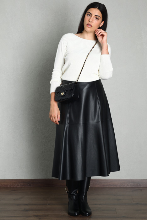 Coated effect skirt Intrend