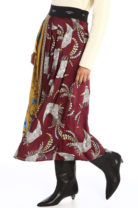 Printed twill skirt Intrend