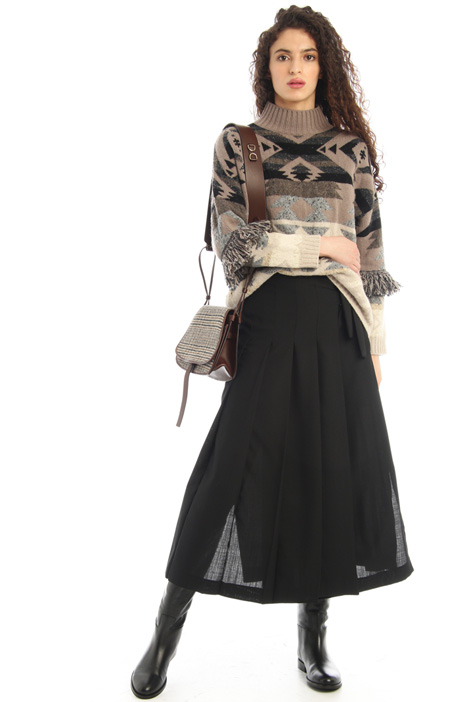Wrap-up flannel skirt Intrend