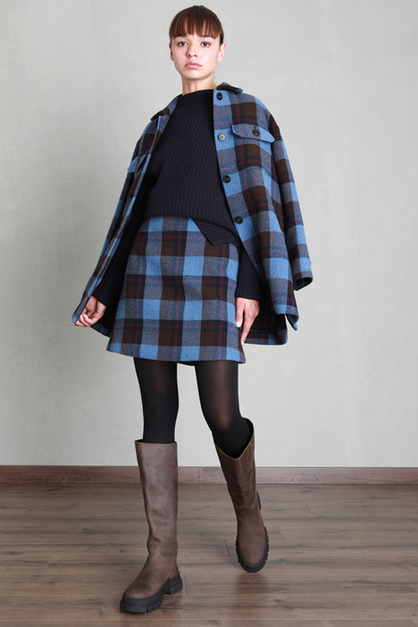 Yarn dyed wool skirt Intrend