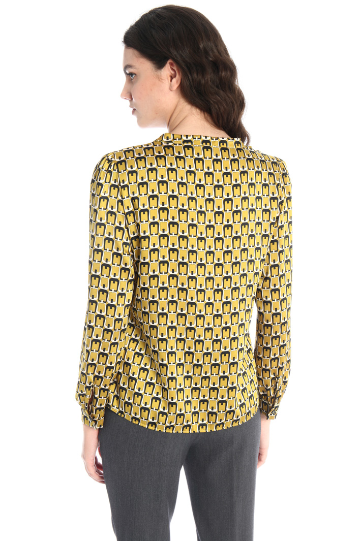 Printed twill blouse Intrend