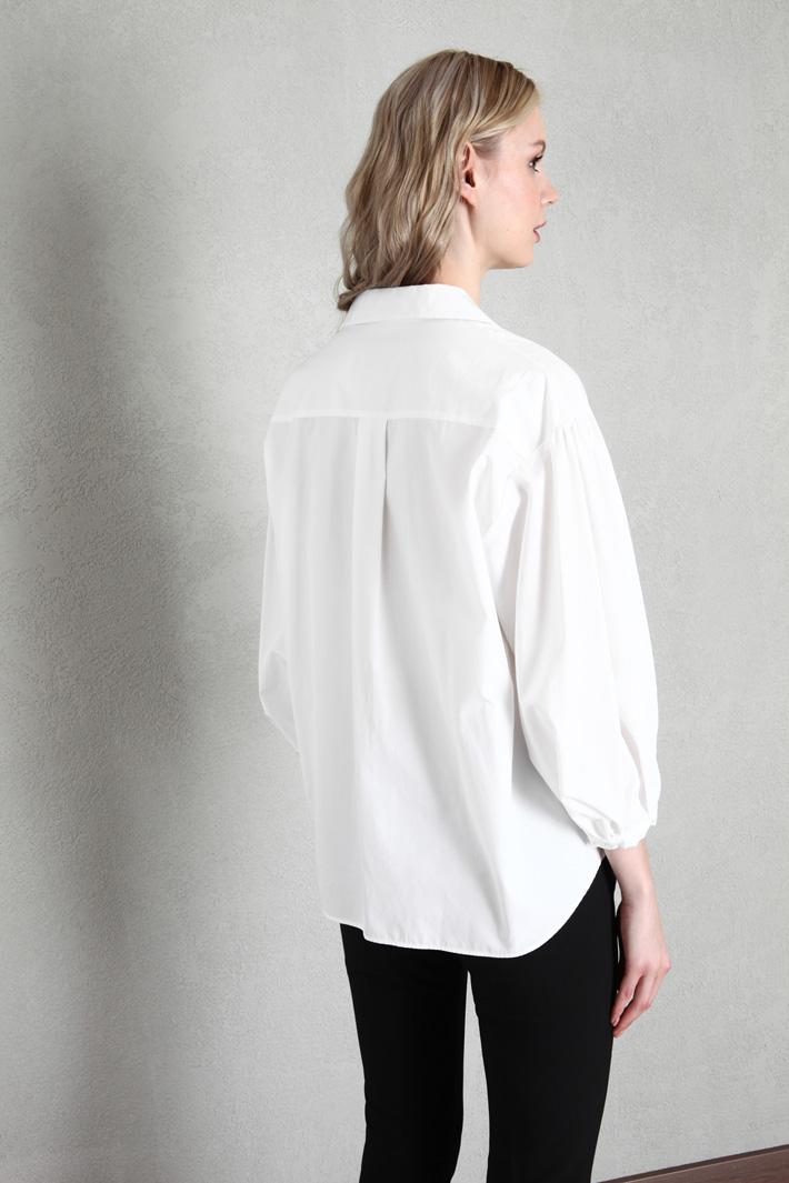 Sash poplin shirt Intrend