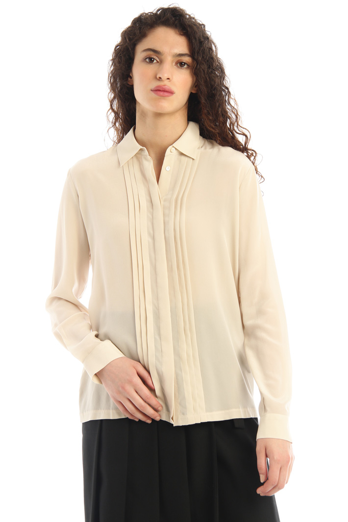 Jersey and silk shirt Intrend