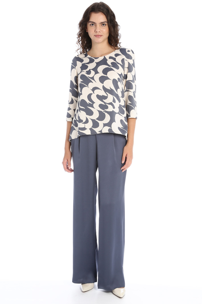 Printed satin blouse Intrend