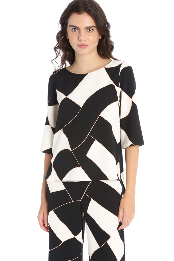 Patterned crepe blouse Intrend