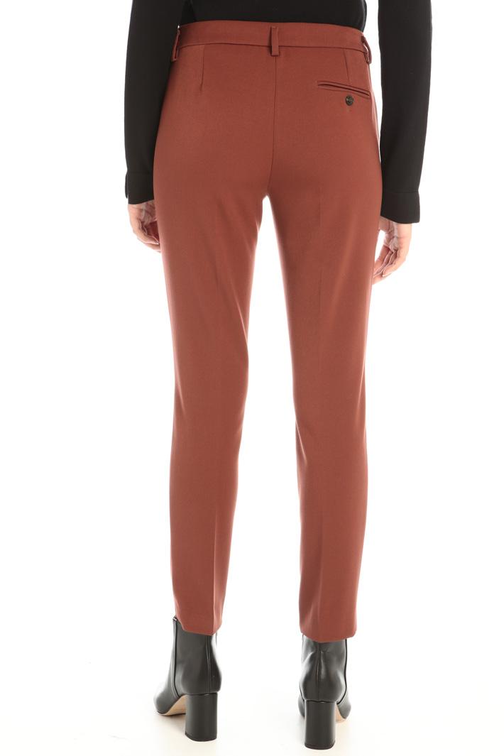 Slim fit viscose trousers Intrend