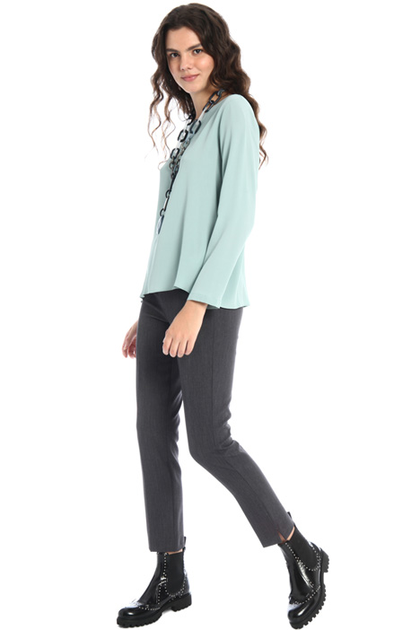 Slim trousers with slits Intrend
