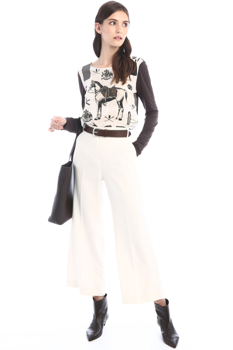 Double crepe fabric trousers Intrend