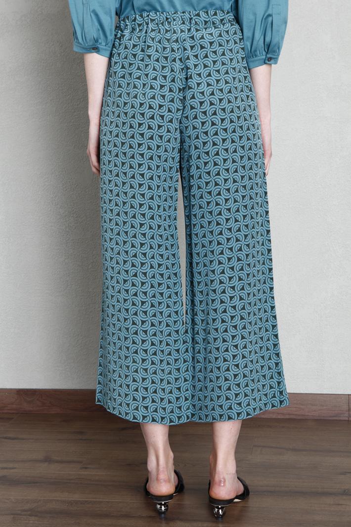 Silk crepe de chine trousers Intrend
