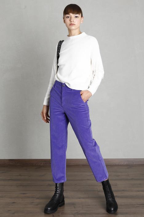 Straight leg velvet trousers Intrend