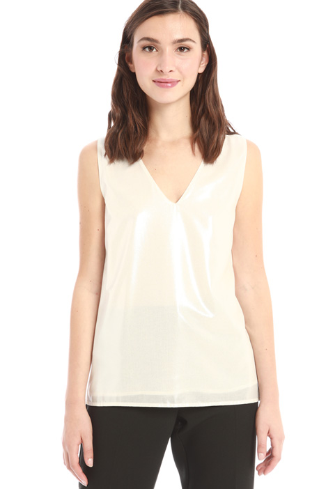 Laminated georgette top Intrend