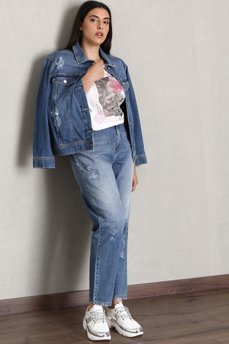 Jeans baggy in denim Intrend
