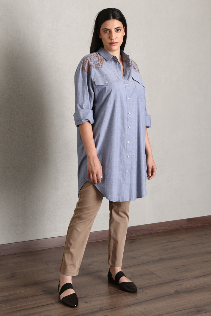 Cotton chambray shirt Intrend