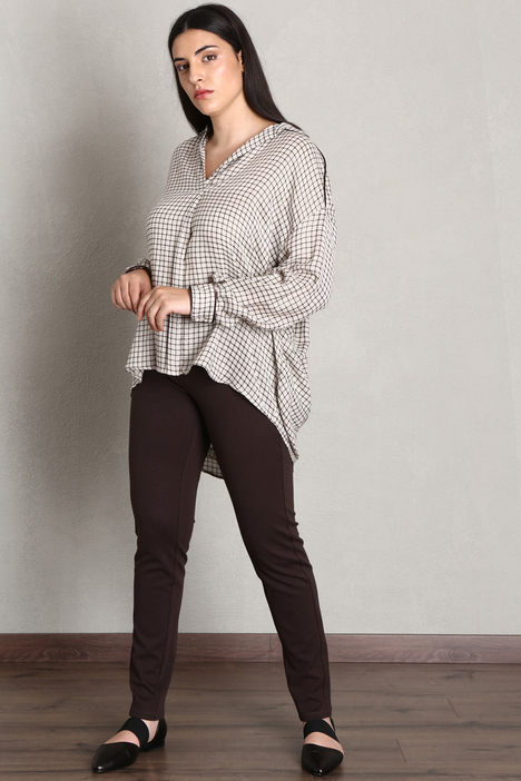 Blouse in viscose and wool gauze Intrend