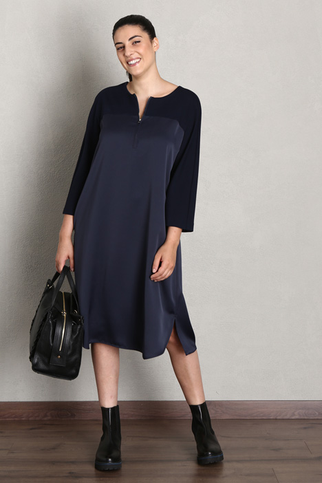 Envers satin and jersey dress Intrend