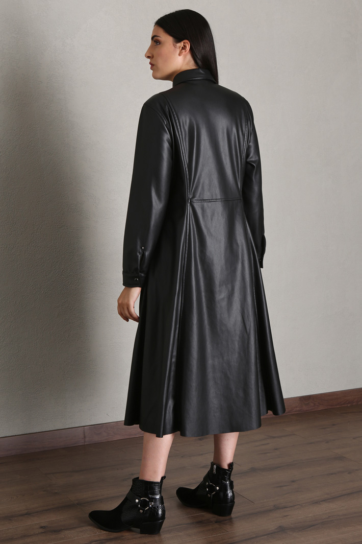 Faux leather dress Intrend