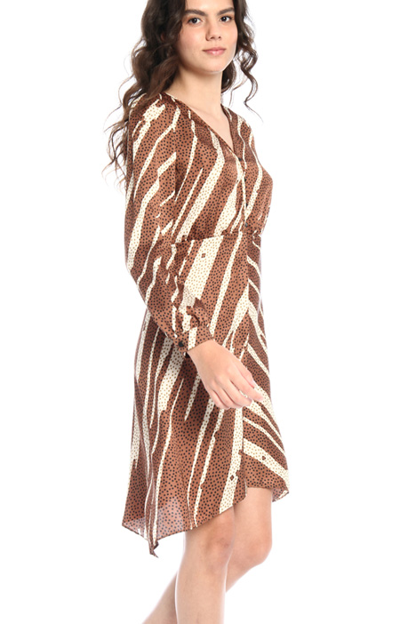 Patterned twill dress  Intrend