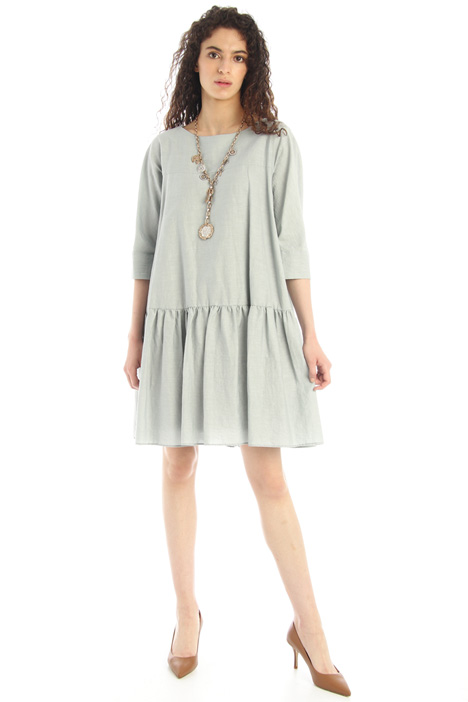 Linen and cotton canvas dress Intrend