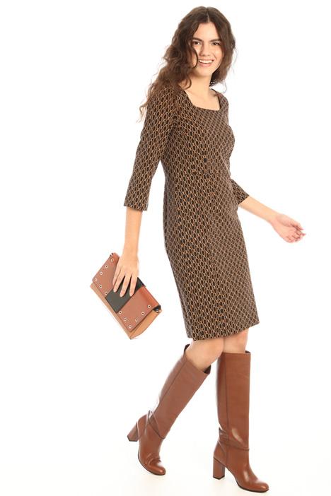 Slim fit patterned dress Intrend