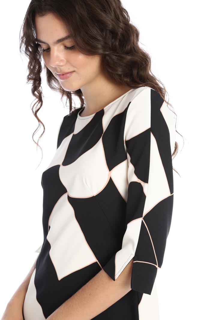 Patterned crepe dress  Intrend