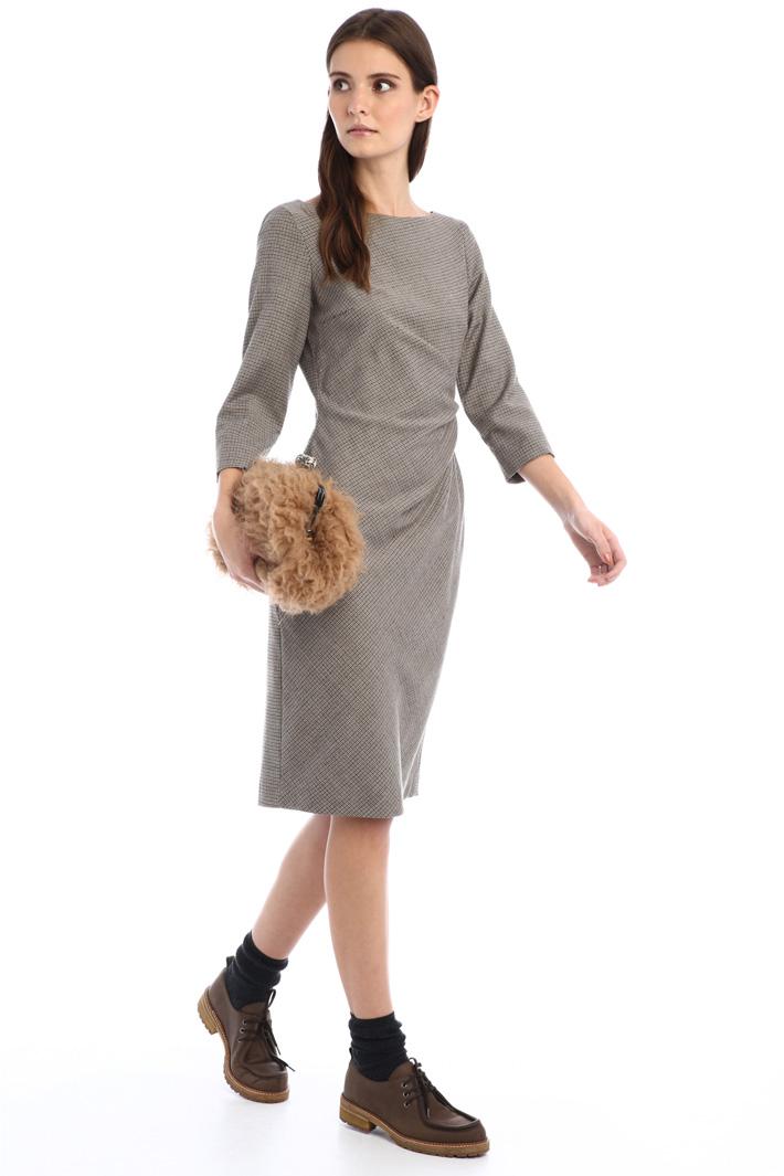 Wool flannel dress Intrend