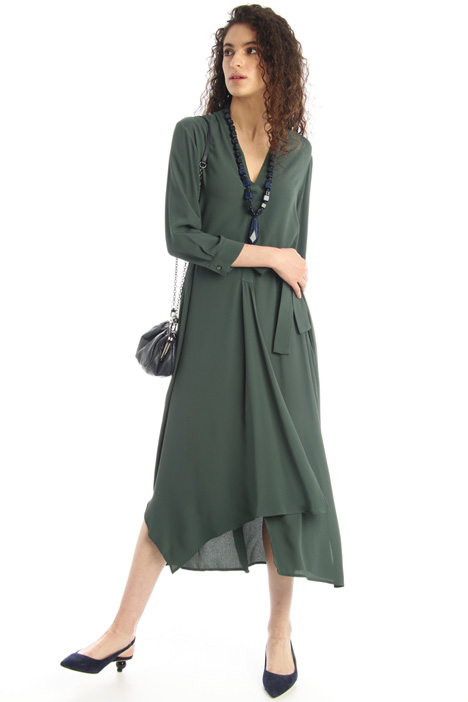 Flounced crepe dress Intrend