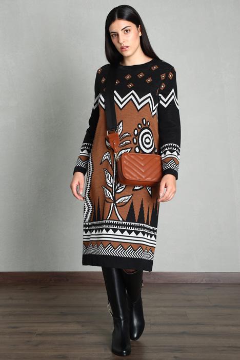 Long-sleeve knit dress Intrend