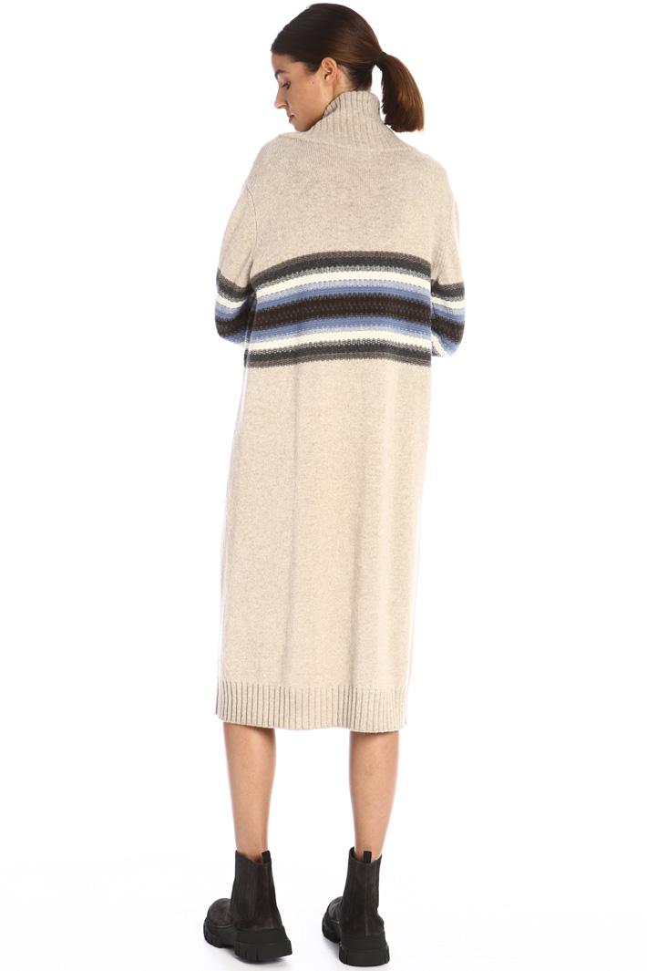 Inlaid wool dress Intrend