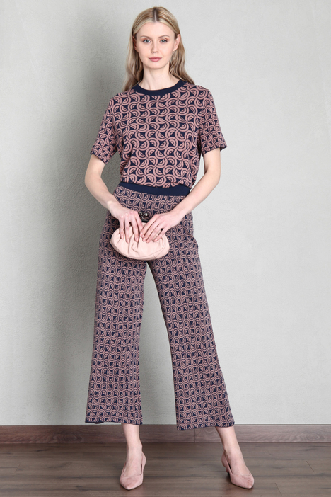 Knit jacquard trousers Intrend