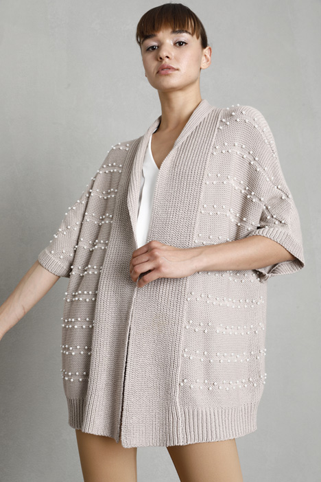 Open-front cotton cardigan Intrend
