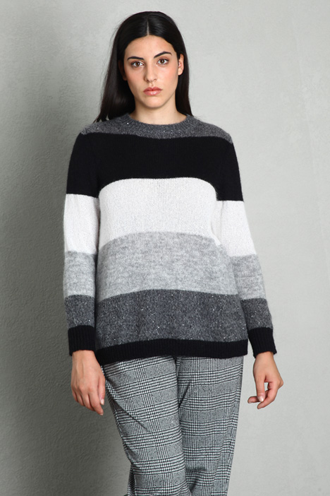 Colour-block mohair sweater Intrend