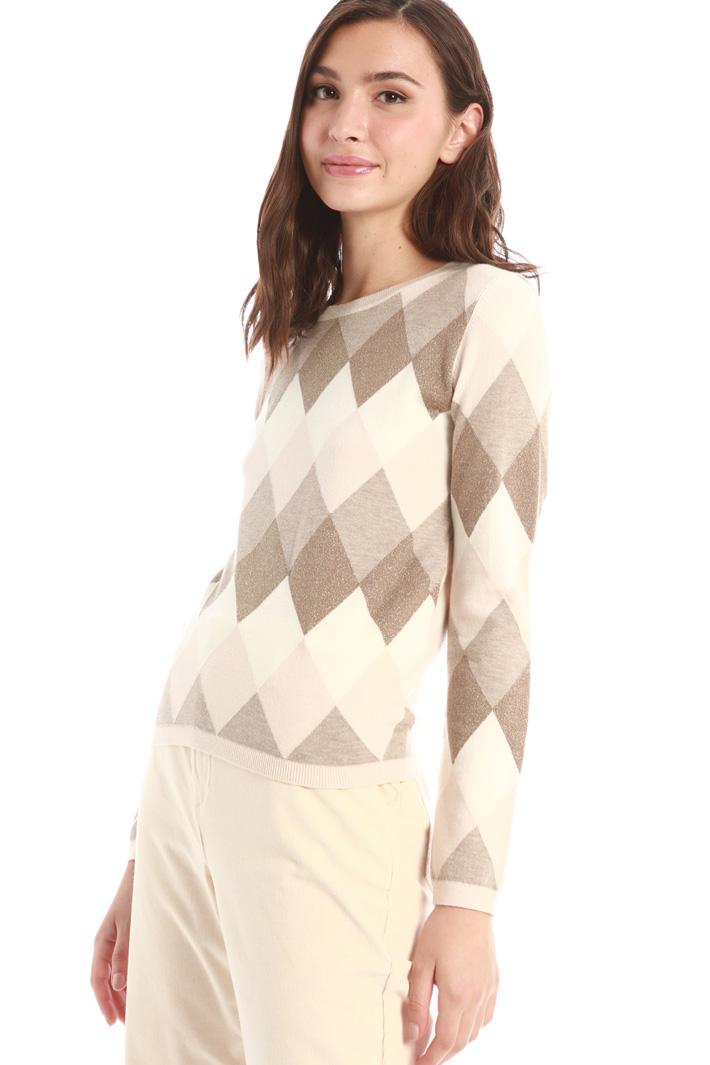 Lurex inlaid sweater Intrend