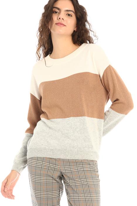 Inlaid viscose sweater Intrend