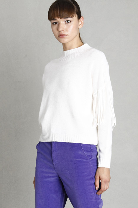 Fringed boxy sweater  Intrend