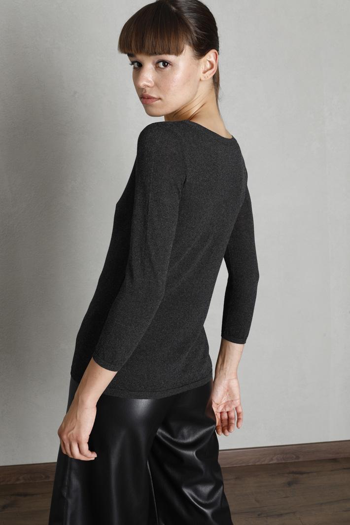 Semi-fitted lurex sweater Intrend