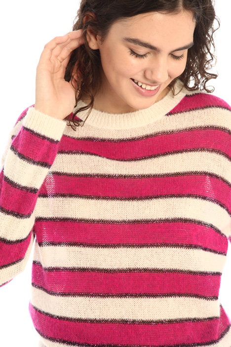 Inlaid alpaca sweater Intrend