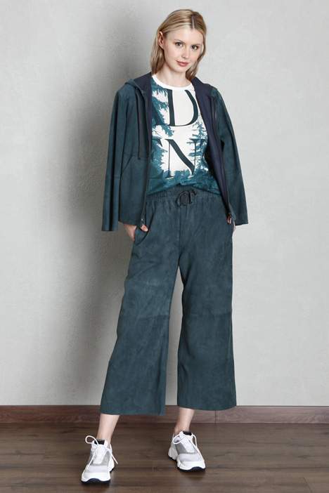 Suede leather trousers Intrend