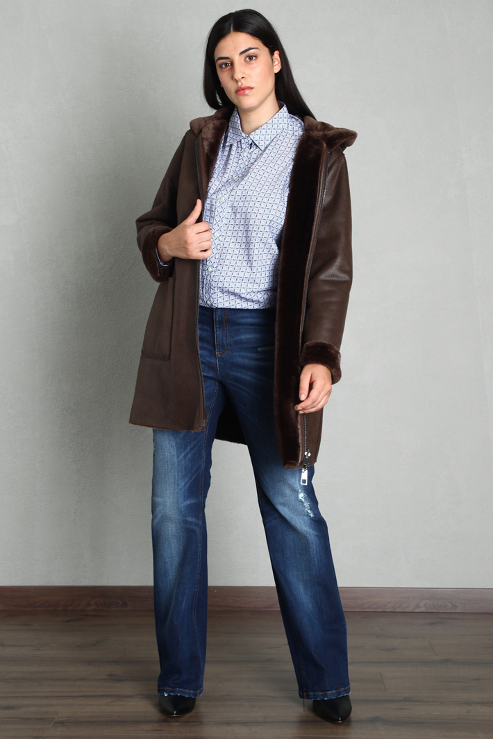 Sheepskin-effect jacket Intrend