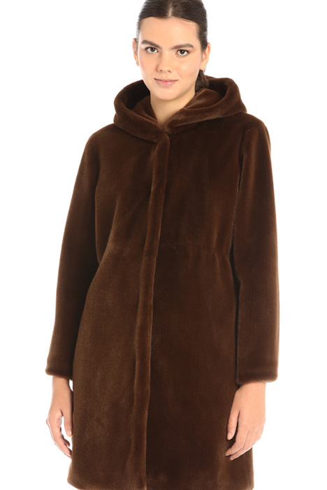 Plush hooded parka Intrend
