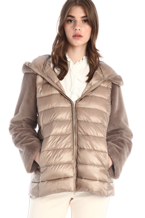 Fur detailed puffer Intrend