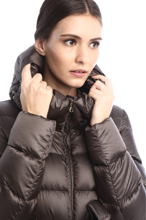 Long hooded puffer coat Intrend