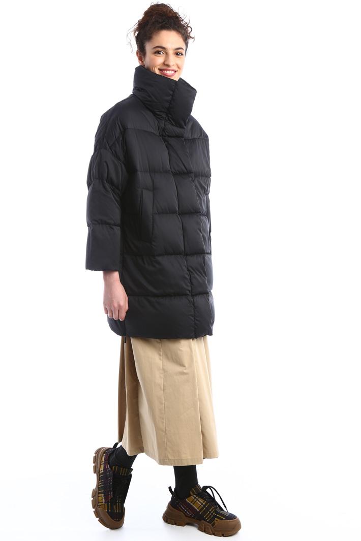 Long tech satin puffer coat Intrend