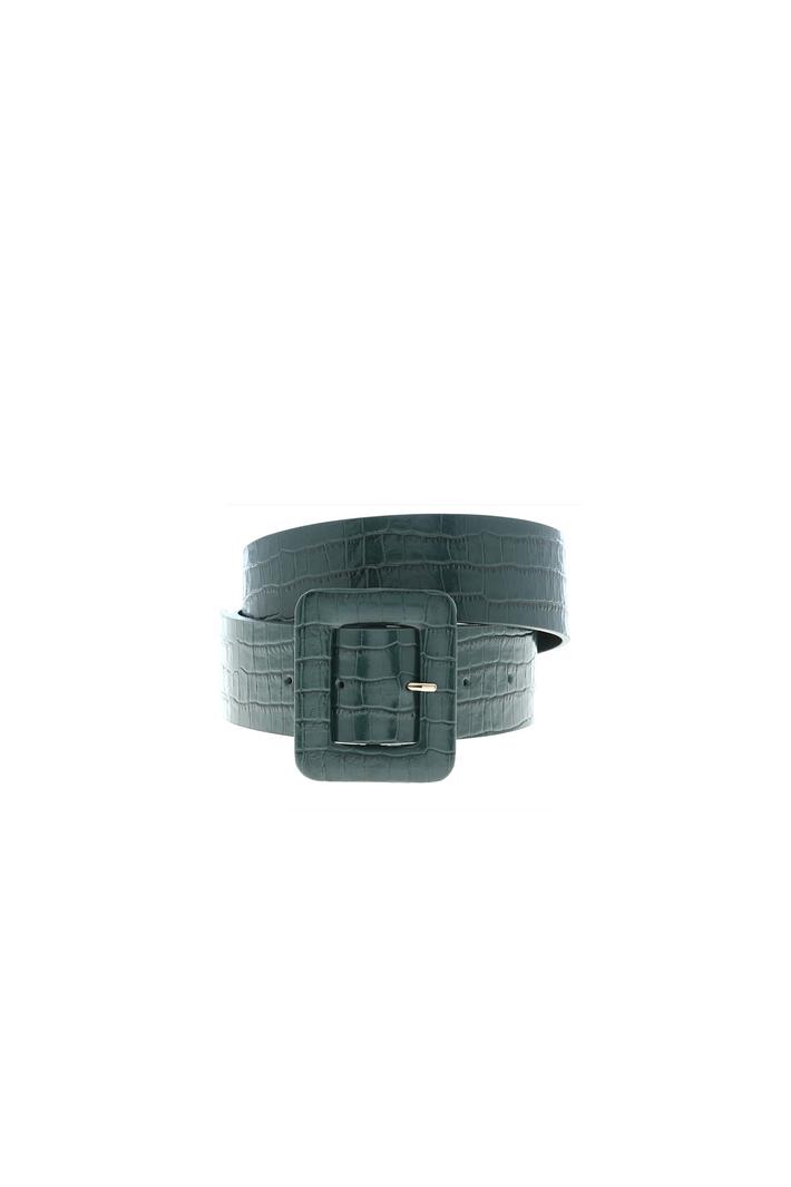Croc print leather belt Intrend