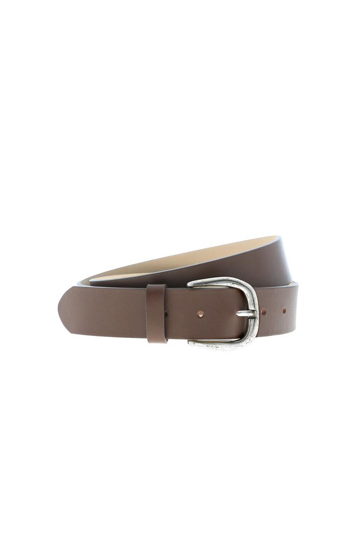 Semi-gloss leather belt Intrend