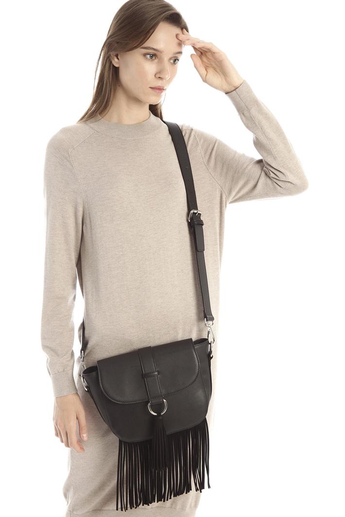Shoulder bag with fringes Intrend