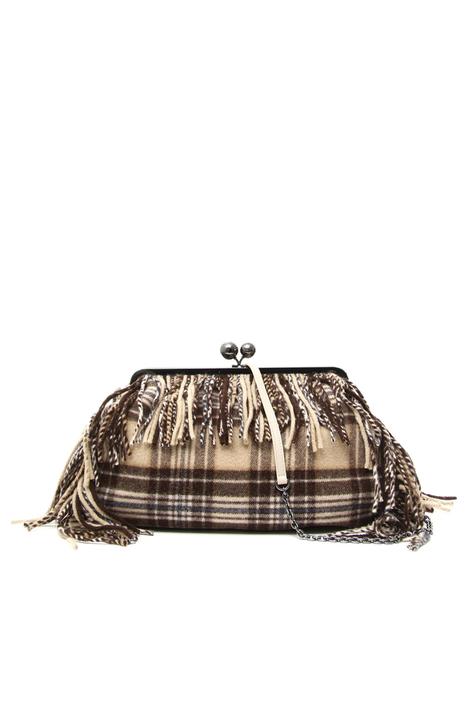 Wool cloth maxi clutch Intrend