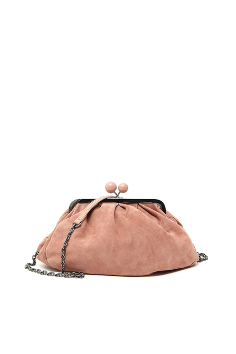 Medium suede leather clutch Intrend